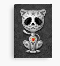 Dark Zombie Sugar Kitten Cat Canvas Print