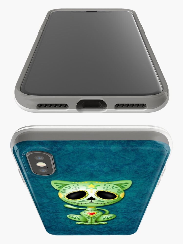 Alternate view of Green Zombie Sugar Kitten Cat iPhone Case & Cover