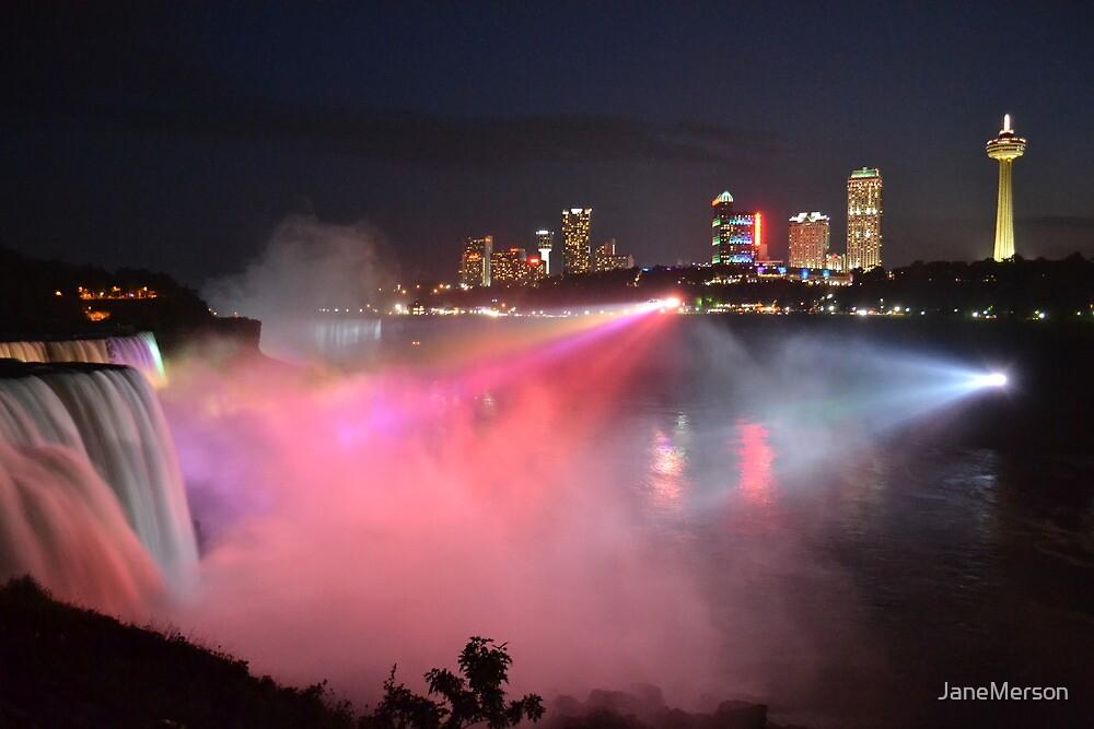 Niagara Falls at Night by JaneMerson
