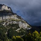 storm clouds clear above Grindlewald Switzerland by David Galson
