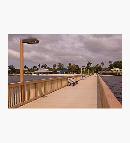 A Walk on the Boardwalk Photographic Print
