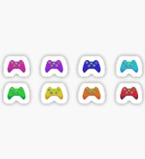 Pixel Xbox Controllers - Rainbow Set Sticker
