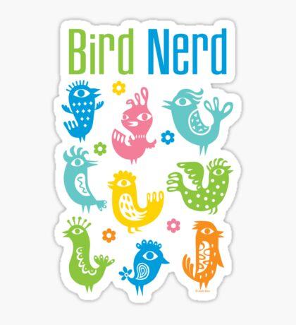 Bird Nerd - dark Sticker