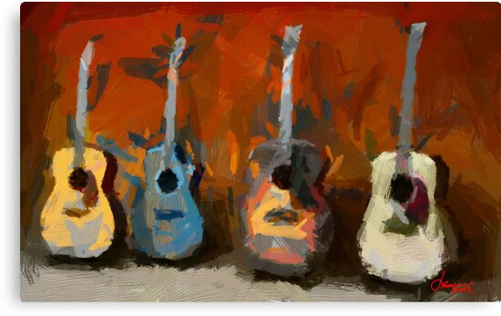 Four Guitars by DiNovici