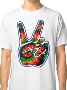 Tie-Dye Peace Sign Classic T-Shirt