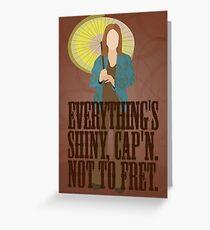 Kaylee - Everything's shiney Greeting Card