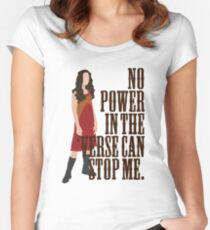 River Tam - No Power In The 'Verse Can Stop Me Women's Fitted Scoop T-Shirt