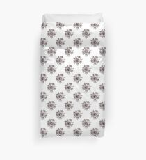 Black and White Roses Pattern Duvet Cover