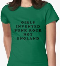 KIM GORDON SONIC YOUTH GIRLS INVENTED PUNK ROCK NOT ENGLAND Women's Fitted T-Shirt