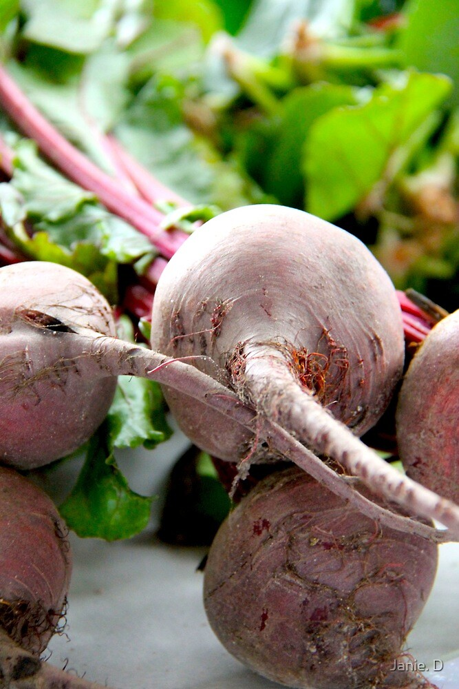 Organic Beets by Janie. D