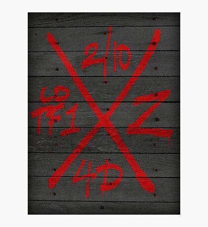 Dead Walking Zombie X-Code (BLACK) Photographic Print