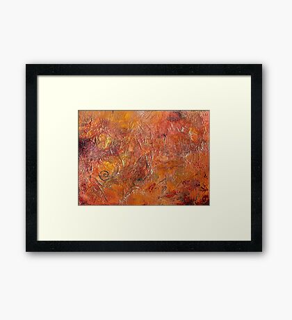 Gilded Orange Framed Print