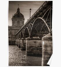 Pont des Arts and Institut de France Poster