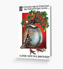 And a Pear Tree in a Partridge ♫ Greeting Card