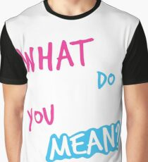 Justin Bieber What Do You Mean Graphic T-Shirt