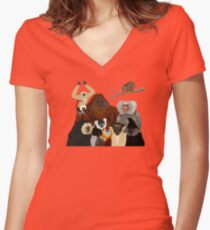I Am Thankful For Primates Women's Fitted V-Neck T-Shirt