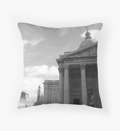 Pantheon in Black and White Throw Pillow