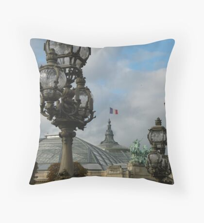 The Grand Palais from the Pont Alexander III Throw Pillow
