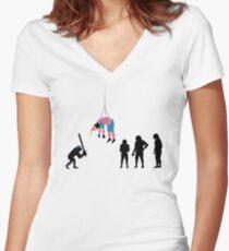 99 Steps of Progress - Pinata Women's Fitted V-Neck T-Shirt
