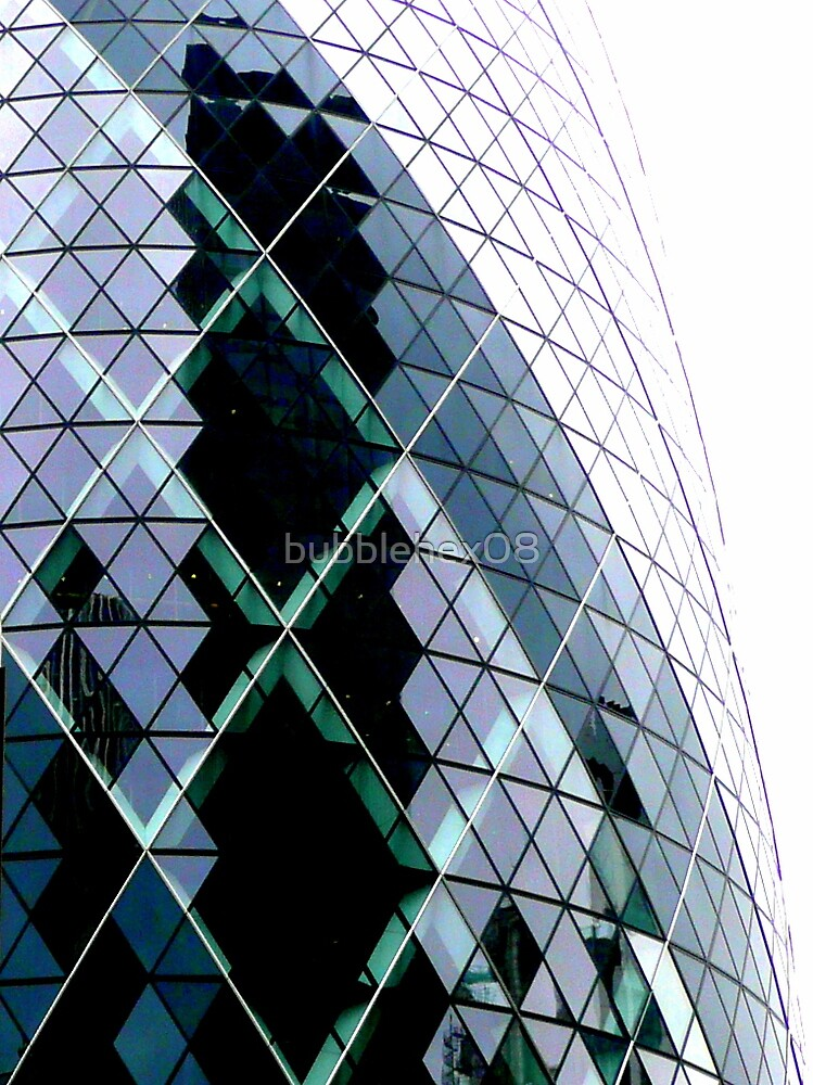Crack in the Gherkin by bubblehex08