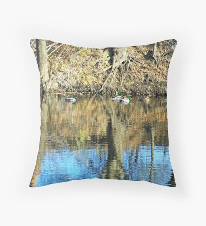 Greenheads on Glass Throw Pillow