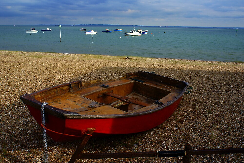old red boat by lurch