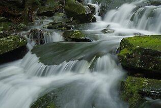 Detail of  Seasonal Waterfall by jpsphotoart