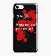 Dear Jim... (Black) iPhone Case/Skin