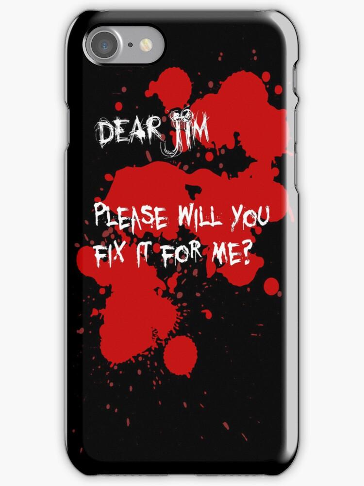 Dear Jim... (Black) by gerardxxirwin