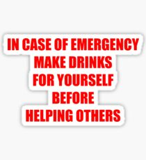IN CASE OF EMERGENCY Sticker