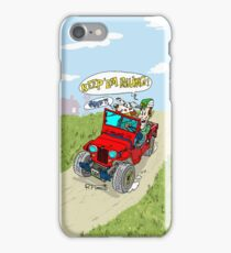 Willys Cj2A jeep at the farm iPhone Case/Skin
