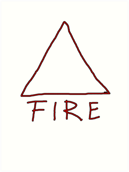 Alchemical Symbol For Fire One Of The Four Magical Elements Art
