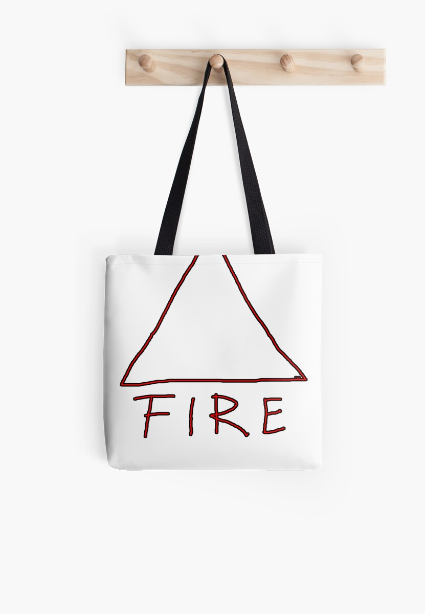 Alchemical Symbol For Fire One Of The Four Magical Elements Tote