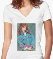 Tiffany Women's Fitted V-Neck T-Shirt