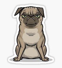 MEAN MUG PUG - Ozzy Sticker