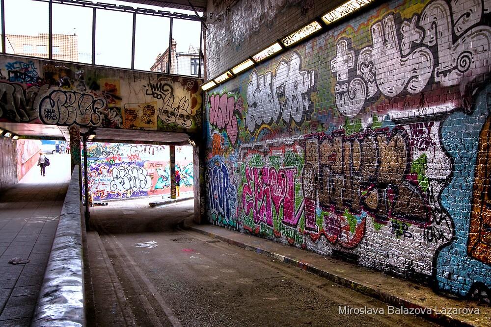 Leake Street Graffiti Tunnel London by Miroslava Balazova Lazarova