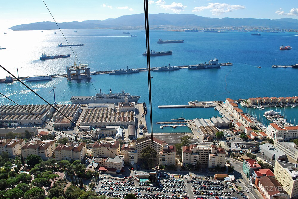 bay of Gibraltar by GOSIA GRZYBEK