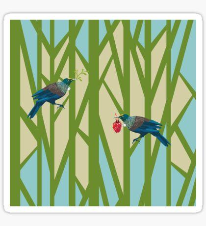 Colourful Tuis Sticker