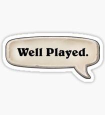 Hearthstone - Well played.  Sticker