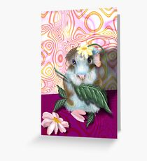 Herbie Hamster, animal whimsy Greeting Card