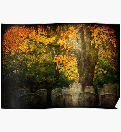 Autumn in the Cemetery Poster