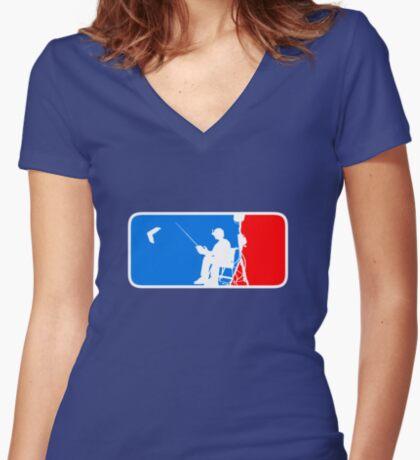 ML FPV Women's Fitted V-Neck T-Shirt