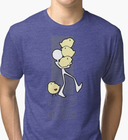 Chicks are a handful!! Tri-blend T-Shirt