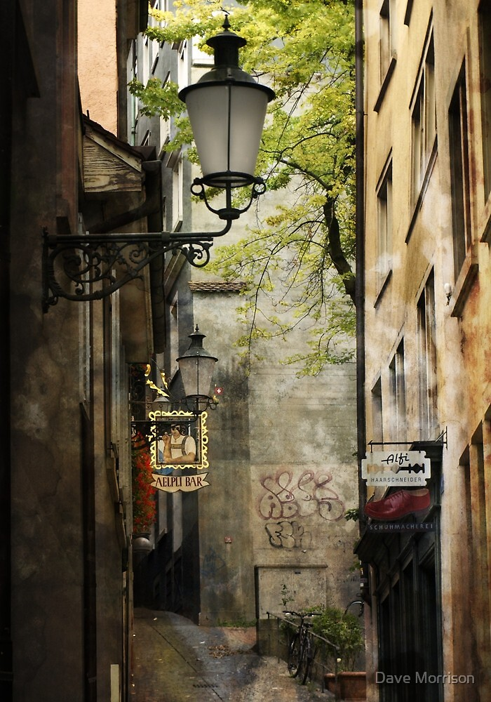 Hidden alleyway - Zurich by Dave Morrison