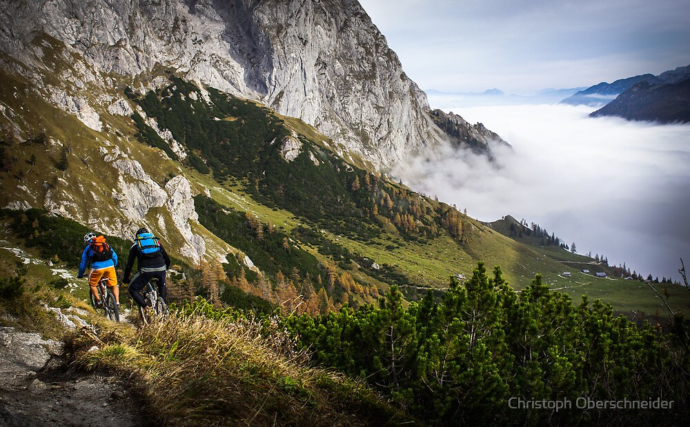 Perfect Singletrail Mountainbiking in Autumn  by Christoph Oberschneider