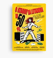 Attack of the 50 Foot Lutadora Canvas Print