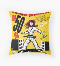 Attack of the 50 Foot Lutadora Throw Pillow