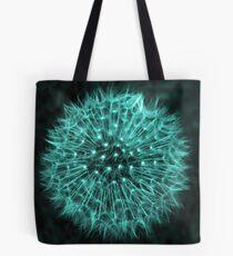 Dandelion Aqua Tote Bag