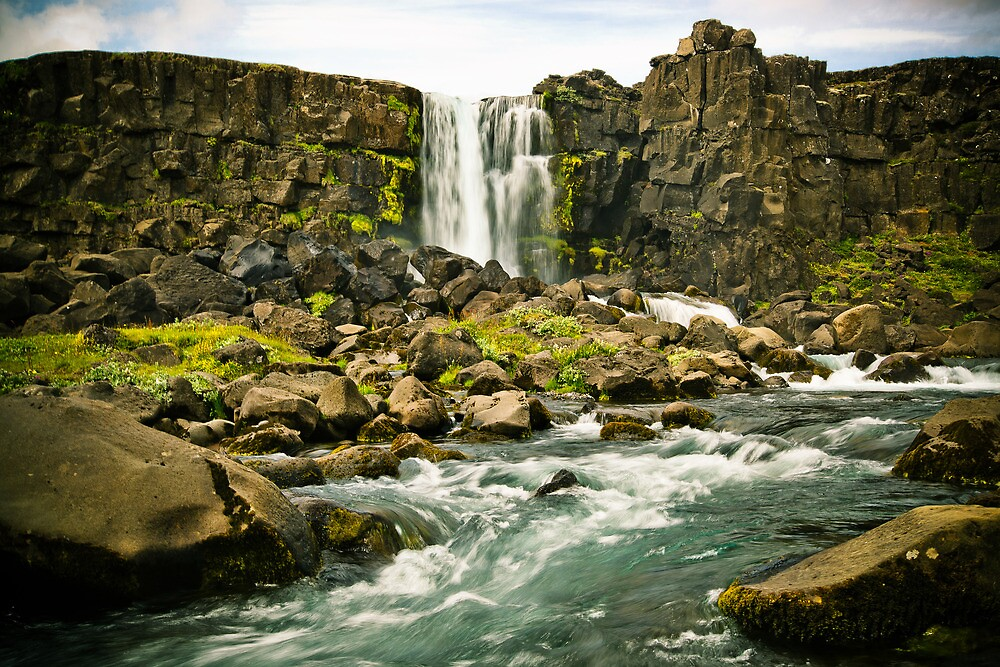Öxarárfoss - Iceland by YorkStCreative