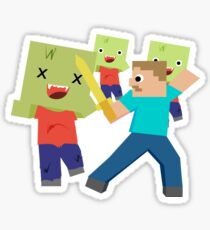 Minecraft Block Stickers Redbubble
